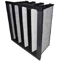 Filtre multidière à charbon actif F7 / Filtre multi-dièdres à charbon actif pour COV
