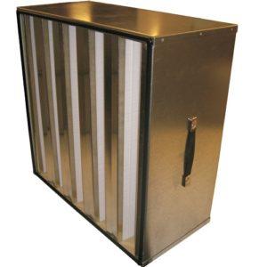 Filtre à air multidières et polydièdres à haute efficacité E10 à H14 / Filtration à air EPA et HEPA pour ZEC (Zone d'Empoussièrement Contrôlée) / Filtres HEPA pour hôpitaux, laboratoires et process industriel sensible