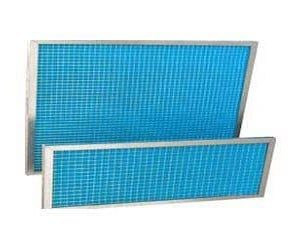 Pré-filtre à air lavable, plan avec cadre métal et efficacité du G2, G3 ou G4