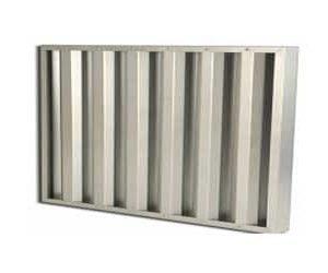 Filtre à air en chicane inox pour protéger les armoires électriques contre l'air chargé de sable