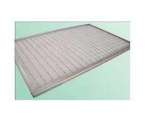 Préfiltre à air / média polyester plan avec cadre métal et efficacité du G2, G3, G4 ou F5