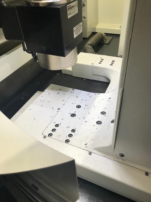 particules fines de copeaux de lase