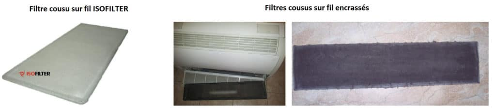Filtre cousu sur fil ISOFILTER